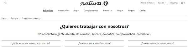 enviar curriculum a Natura