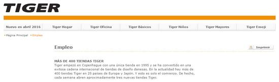 enviar curriculum a tiger