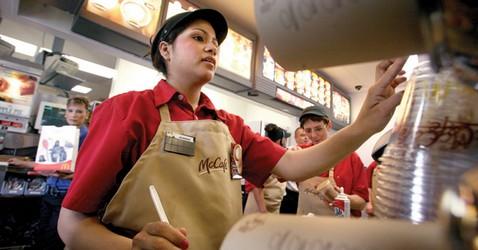 trabajadora de mcdonalds