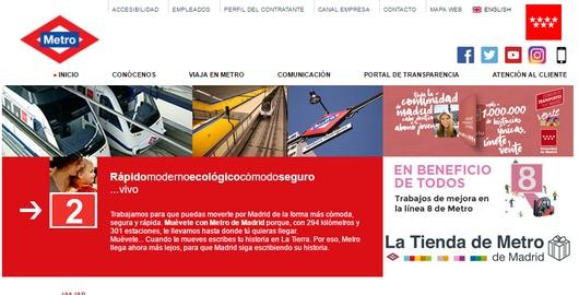 metro madrid web